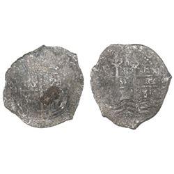 Potosi, Bolivia, cob 8 reales, 165(?)E.