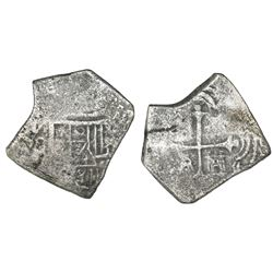 Mexico City, Mexico, cob 4 reales, (16)79(L), rare.