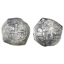 Lima, Peru, cob 8 reales, 169(?)V.