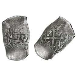 Mexico City, Mexico, cob 8 reales, 1729R, NGC genuine / Vliegenthart Treasure.