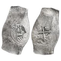 Mexico City, Mexico, cob 8 reales, (17)32F, NGC genuine / Vliegenthart Treasure (oversized slab).
