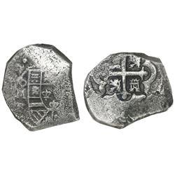 Mexico City, Mexico, cob 8 reales, (173)2F, NGC genuine / Vliegenthart Treasure (extra-thick slab).
