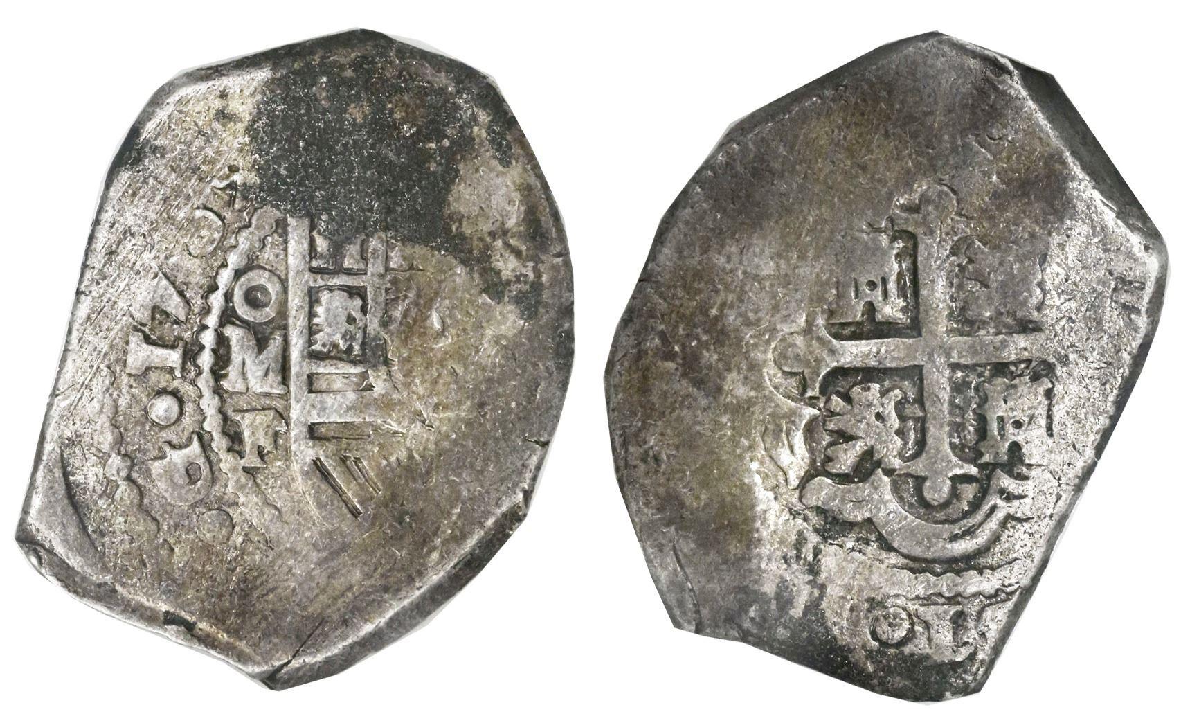 Image 1 Mexico City Cob 8 Reales 1732F NGC Genuine