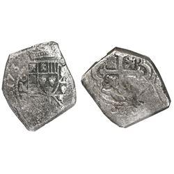 Mexico City, Mexico, cob 8 reales, 1732F, NGC genuine / Vliegenthart Treasure.