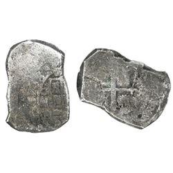 Mexico City, Mexico, cob 8 reales, 1733F, NGC genuine / Vliegenthart Treasure.