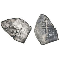 Mexico City, Mexico, cob 8 reales, (17)25(D), (Louis I), very rare.