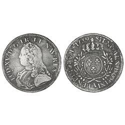 France (Paris mint), ecu, Louis XV, 1729-A.