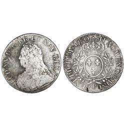 France (Dijon mint), ecu, Louis XV, 1730-P.