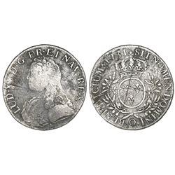 France (Riom mint), ecu, Louis XV, 1731-O.