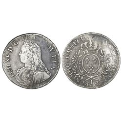 France (Bayonne mint), ecu, Louis XV, 1733-L.