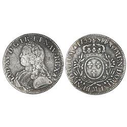 France (Toulouse mint), ecu, Louis XV, 1733-M.