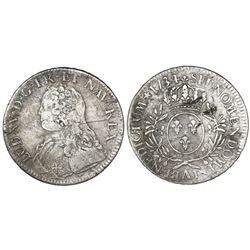France (Paris mint), ecu, Louis XV, 1734-A.