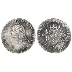 France (Lyon mint), ecu, Louis XV, 1734-D.
