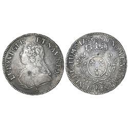 France (Bordeaux mint), ecu, Louis XV, 1734-K.