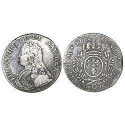 France (Perpignan mint), ecu, Louis XV, 1735-Q.