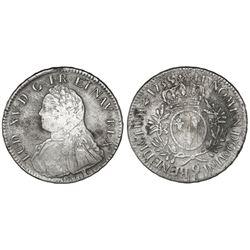 France (Rennes mint), ecu, Louis XV, 1735, mintmark 9.