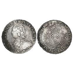 France (Riom mint), ecu, Louis XV, 1736-O.