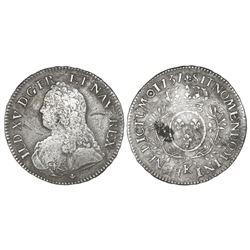 France (Bordeaux mint), ecu, Louis XV, 1737-K.