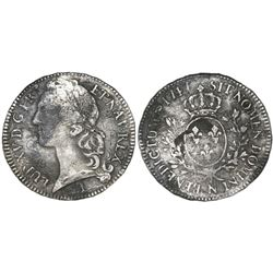 France (Montpelier mint), ecu, Louis XV (large bust), 1747-N.