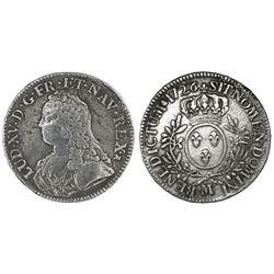 France (Toulouse mint), ecu, Louis XV, 1726-M.