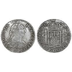 Lima, Peru, bust 8 reales, Charles III, 1783MI.