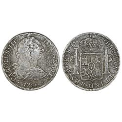 Mexico City, Mexico, bust 8 reales, Charles III, 1786FM.