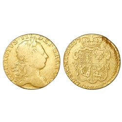 Great Britain (London, England), gold guinea, George III (third head, 1765-73), date not visible.