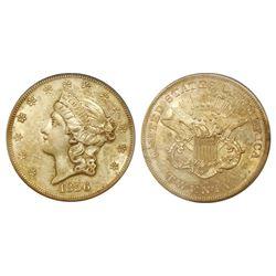 USA (San Francisco mint), $20 coronet Liberty, 1856-S, PCGS Certified / S.S. Central America Treasur