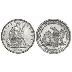 USA (New Orleans mint), half dollar seated Liberty, 1859-O, encapsulated NGC SS Republic Shipwreck E
