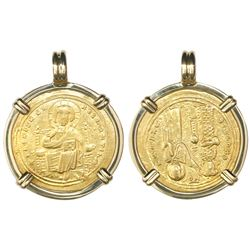 Byzantine Empire, AV histamenon nomisma, Romanus III (1028-34 AD), Constantinople mint, mounted Chri