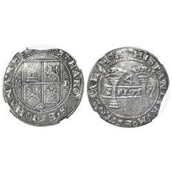 "Mexico City, Mexico, 4 reales, Charles-Joanna, ""Early Series,"" assayer P to right, mintmark oMo to l"