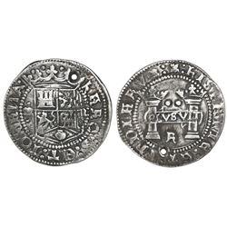 "Mexico City, Mexico, 2 reales, Charles-Joanna, ""Early Series,"" assayer R (Rincon) at bottom between"