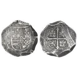 Mexico City, Mexico, cob 8 reales, Philip III, assayer F.