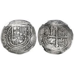 Mexico City, Mexico, cob 8 reales, 1609A, NGC VF 25.