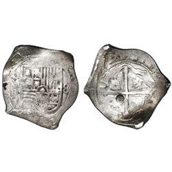 Mexico City, Mexico, cob 8 reales, (16)46P, rare, ex-Asian hoard.
