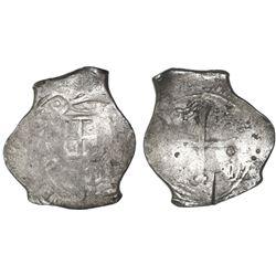 Mexico City, Mexico, cob 8 reales, (16)48P, rare, ex-Asian hoard.