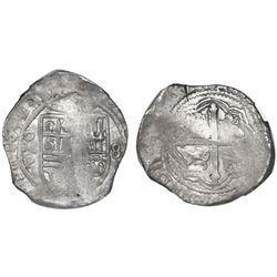 Mexico City, Mexico, cob 8 reales, 1652/49P, NGC XF 40.