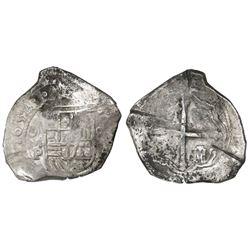 Mexico City, Mexico, cob 8 reales, 1652/1P, ex-Asian hoard.