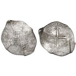 Mexico City, Mexico, cob 8 reales, 1652P, ex-Asian hoard.