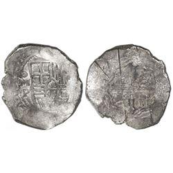 Mexico City, Mexico, cob 8 reales, (16)52P, ex-Asian hoard.