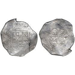 Mexico City, Mexico, cob 8 reales, 1658P, NGC VF 35.