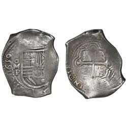 Mexico City, Mexico, cob 8 reales, 1659/8P, rare, Bevill Plate.