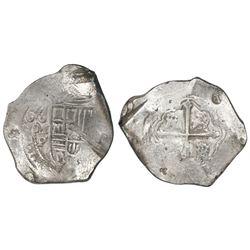 Mexico City, Mexico, cob 8 reales, 165(?)P, ex-Asian hoard.