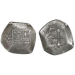 Mexico City, Mexico, cob 8 reales, 1667G, rare.