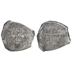 Mexico City, Mexico, cob 8 reales, 1730F/G (rare), NGC VF 30 (extra thick slab).