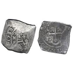 Mexico City, Mexico, cob 8 reales, 1732F, NGC VF 30.