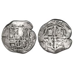 Mexico City, Mexico, cob 4 reales, Philip II, assayer oD below mintmark oM to right (F-oD), very rar