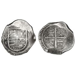 Mexico City, Mexico, cob 4 reales, Philip III, assayer F.
