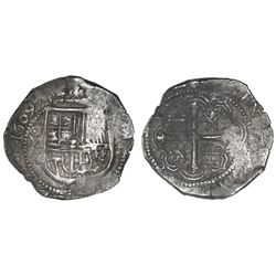 Mexico City, Mexico, cob 4 reales, 1609A.