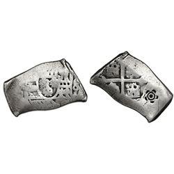 "Mexico City, Mexico, cob 4 reales, Philip V, assayer not visible, error with denomination as ""8"" (ra"